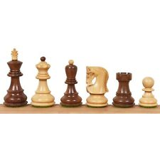 """2.6"""" Russian Zagreb Chess Pieces Only set - Weighted Golden Rose wood & Boxwood"""