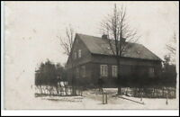 PIRNA Echtfoto-AK ~1925 Mann vor kleinem Wohnhaus alte Postkarte Sachsen