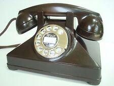 Antique Northern Electric telephone   Burled Walnut  bakelite Pyramid restored