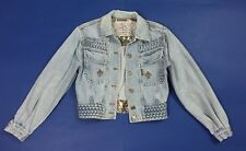 Cappopera jacket jeans blazer donna usato vintage S giacca luxury coat T3839