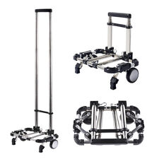 Foldable Luggage Cart Rolling Shopping Carts Portable Hand Truck Trolley Folding