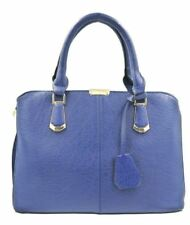 Ladies Fashionable Synthetic Leather Bag Sling Top Handle Shoulder Bag (Blue)