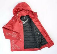 7858^ BOGNER Goan Thylmann Damen Rot Ski Bestickt Gesteppt Winter Jacke Gr M 38