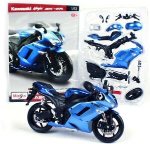 Maisto 1:12 Kawasaki Ninja ZX6R Assembly line Kit Motorcycle Model New in Box