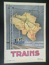 TRES RARE ancienne revue SNCB Trains N° 15 rail Belgique TTBE
