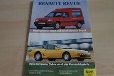 124610) Renault Rapid - Alpine A 610 - Renault Revue 04/1991