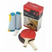 Instant Tischtennis Zwei Schläger Bälle & Ausziehbar Netz Ping Pong Reise