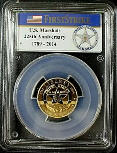 2015-W PCGS PR70DCAM $5 Gold US Marshals Service  225th Anniversary COA & OGP