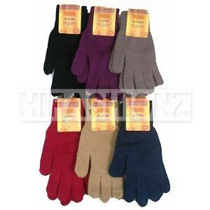Ladies Handy Thermal Gloves Full Finger & Fingerless Soft Winter Xmas Gift