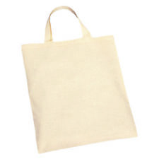 10 Plain Eco Natural Cotton Shopping Tote Bags Carry Handle Ideal for Decorating