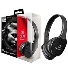 MENTAL BEATS DJ SKIN HEADPHONES BLACK NOISE ISOLATION #00696 W/MIC NIB FREE SHPG
