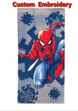 "Personalized Spider-Man Marvel Beach Towel Blue & Red 100% Cotton 28""X 58"""