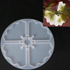 Coaster Resin Casting Mold Silicone Jewelry Agate Making Mould Epoxy Tool Craft