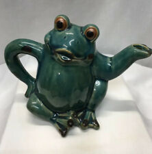 Cute Frog Art Pottery Watering Can Pottery Fun Piece