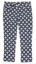 Gymboree PARISIAN AFTERNOON navy dot cropped twill pants size 6 NWT