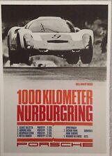 Porsche Airborne 1967 1000KL Nurburgring. Postcard1st On eBay Car Poster. Own It