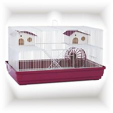 Indoor Hamster Wire Cage Small Pet Gerbil House Mice Mouse Hutch Exercise Wheel