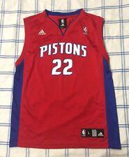 Adidas Detroit Pistons Jersey Tayshaun Prince Youth Large Women Medium Red NBA