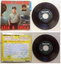 Akim et Sheila Disque Super 45T vinyl 4 titres Devant le juke box vintage