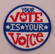 New Your Vote Is Your Voice Political Power Voter Patriotic USA Patch Iron On