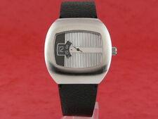 SILVER Traditional Dress Digital Jump Hour 70s led lcd era Vintage Retro Watch