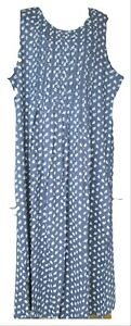 Vermont Country Store Blue Print Jumper Dress