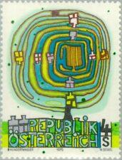 """AUSTRIA - 1975 - Art - """"Spiral Tree"""" by Friedensreich Hundertwasser - Sc. #1029"""