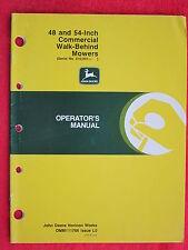 1990 JD JOHN DEERE 48 & 54 INCH COMMERCIAL WALK-BEHIND MOWERS OPERATOR'S MANUAL