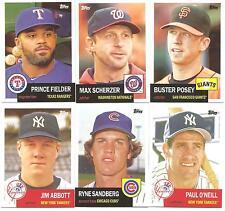 Lot of 300 2016 Topps Archives Baseball Base set  # 1-300