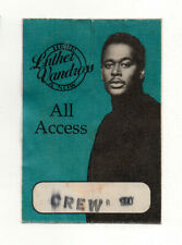 Luther Vandross 1990 Here & Now Tour All Access Crew Satin Backstage Pass