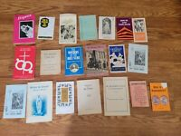 LOT OF 20 VINTAGE CATHOLIC RELIGIOUS BOOKLETS PAMPHLETS Catholicism Christian L7