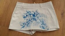 Polyester Floral Mid Rise Petite Shorts for Women