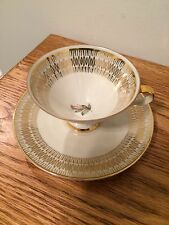 Vintage Bavaria Ivory with Gold Design Tea Cup and Saucer