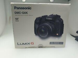 Panasonic LUMIX DMC-G6 16.1MP Digitalkamera - Schwarz OVP