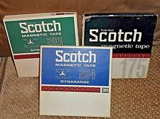 """3 SCOTCH Vintage Pre-Recorded Reel-to-Reel Audio Tapes in Box Cover Pre-Owned 7"""""""