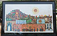 Amram Ebgi Ltd Ed HandColored Etching Intaglio Relief Jerusalem The Holy City II
