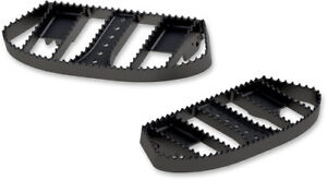Burly Brand Black MX Style Driver Rider Floorboards Serrated Edge Harley FL