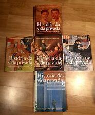 História Da Vida Privada Hardcover Philippe Airès & Georges Duby - in Portuguese