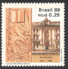 Brazil 1989 Library/Books//Carving/Sculpture/Buildings/Architecture 1v (n38126)