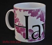 Hawaii Starbucks Mug 1994 City Collector Series Hawaiian Lei Plumeria or Orchid