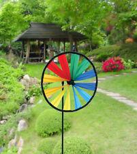 "Rainbow Pinwheel Style 8"" Wheel Wind Spinner SKYD-01620"