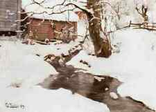 Thaulow Fritz Winter On The Isle Of Stord 5 A4 Print