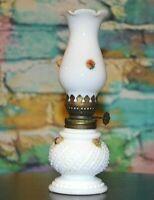 Vintage Milk Glass Oil Kerosene Lamp Aladdin Banquet Lantern Chimney Lamplight