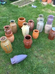 Terracotta Pottery Vase / Vaze or Decorative Object Flowers Display Planting POT