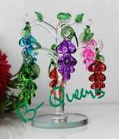 CRYSTAL CUT LARGE MULTI COLOUR GRAPES TREE MOTHER'S DAY BIRTHDAY GIFT BOX