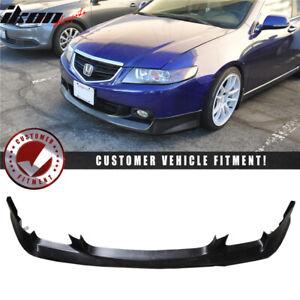 Fits 04-05 Acura TSX Aspec Style Front Bumper Lip Spoiler Unpainted - PU