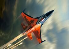 F16 Fighter Jet Plane Photo Poster Print ONLY Wall Art A4