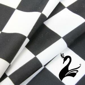 Spandex Nylon Lycra 4 Way Stretch Fabric W150cm/190gm - Grand Prix Checked (P...