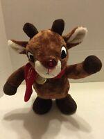 "Animated Rudolph Plush Dan Dee 12"" 2013 Reindeer 50 Year Anniversary"