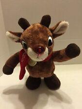 "Rudolph 12"" Animated Plush Dan Dee 2013 Reindeer 50 Year Anniversary"